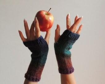Hand Knit Gloves - Mittens - Wool Gloves - Fingerless Gloves - Wrist Warmers - Winter Gloves - New York Elegant Warm Gloves - #134