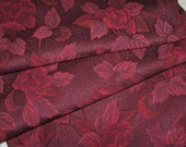 Vintage Japanese Kimono Silk Lovely Falling Peony Flowers and Leaves with Geometric Diamond Patterns 60ins long