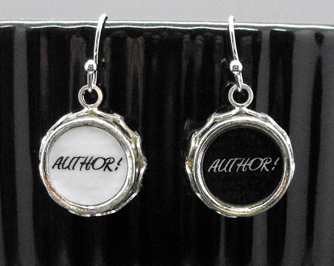 Author Author Earrings Writer Literary Themed Jewelry Writers