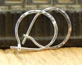 Silver hoop earrings, Ready To Ship! Tiny 1/2 inch hoops,  *standard 20 gauge* hammered SHINY sterling silver, 0.5 inch hoops, ONE pair.