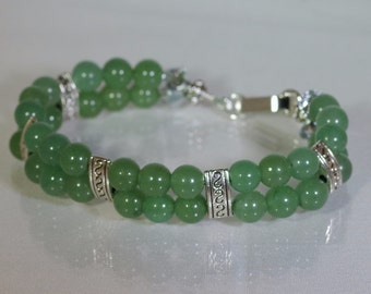 Gemstone Jewelry - Green Aventurine Bracelet