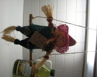 Fall Scarecrow On A Swing