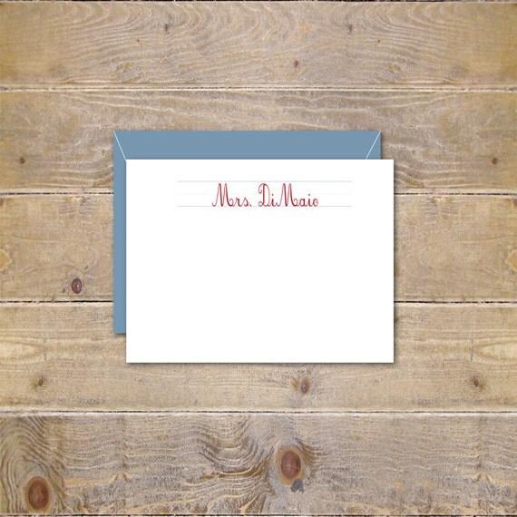 Gift For Teacher, Teacher Gift,  Personalized Note Cards, Teacher Stationery, Stationary, Note Cards for Teacher, Christmas Gift, Class Gift