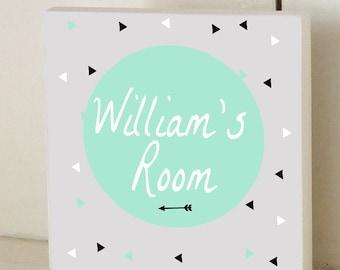 Arrow Custom Wooden Name Plaque/Door Sign Personalized Nursery Art