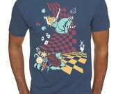 Alice in Wonderland T-shirt, Down the Rabbit Hole T-shirt, Unisex graphic tee, Gift for him or her