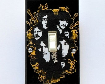 Beatles single Switchplates w/ MATCHING SCREWS- Beatle switchplate Beatle art print Beatle wall decor Beatles collectible posters Revolver