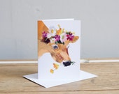 Flower Girl Greetings Card