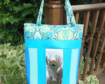Peacock Feather Tote pdf Pattern