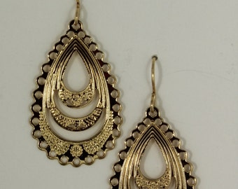Gold plated tear drops