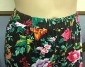 1980's Floral Pant Size 16