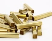 50 Raw Brass Square Tubes  (4x25mm) Bs 1590