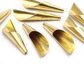 Cone Bead Caps - 10 Raw Brass Cone Bead Caps (40mm) Bs 1303
