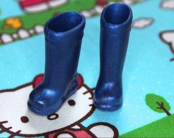 Blythe Royal Blue Shimmer Doll Gumboots