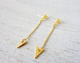 Long Arrow Earrings, arrow earrings, simple earrings, urban jewelry