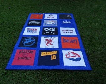 Tshirt Quilt made with your own 15 Tshirts