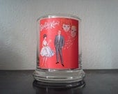 Barbie and Ken Inspired Red Glass Holder SALE