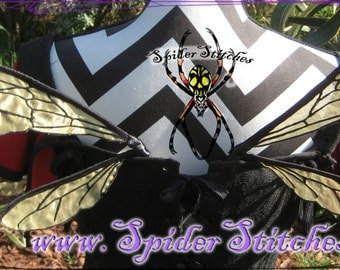 Durable Wearable Honey Bee Wing  Wings Gold  by Spider Stitches