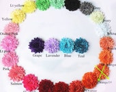 Grab Bag Glitter Shabby Dandelion Flowers 25 - 3 inch for Headbands, Clips, Appliques for Clothing and more Destah
