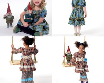 GIRL CLOTHES PATTERN / Sale! / Make Boutique Dresses - Belts - Pants  / Child Size 2 - 5 Or Girl Size 6 - 8