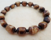 Buffalo Bone and Seed Bracelet