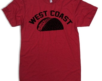 Men's West Coast TACO t shirt american apparel S M L XL (17 Colors)