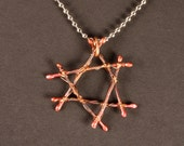 Custom Lashed Copper Star of David for 3circles
