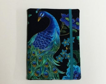 Kindle Cover Hardcover, Kindle Case, eReader, Kobo, Kindle Voyage, Kindle Fire HD 6 7, Kindle Paperwhite, Nook GlowLight Peacock Feathers