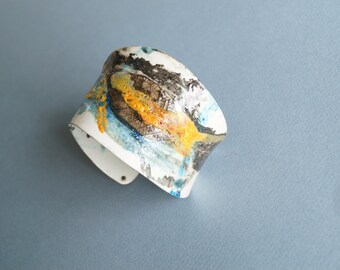 Bracelet  Summer women Fashion In Living Color In My Dreams Abstract miniature painting Cuff
