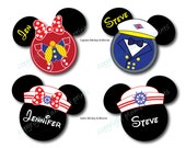 X-Small Nautical Sailors Mouse Head Magnets for Disney Cruise