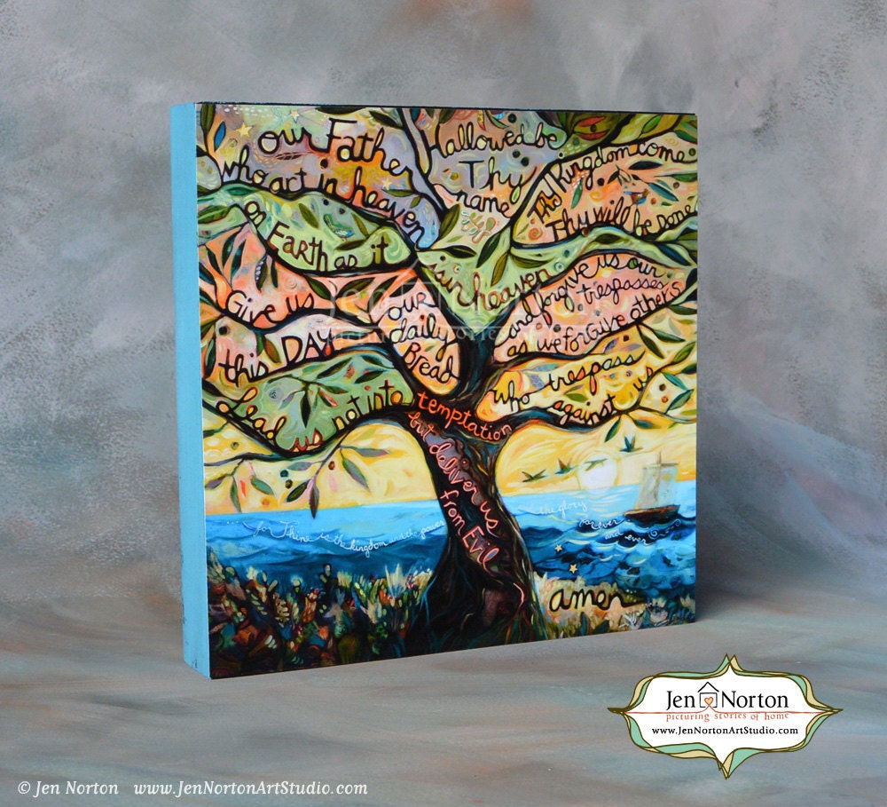 our father the lord u0027s prayer painted biblical art on
