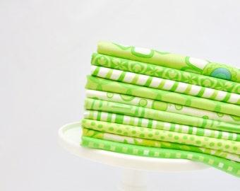 Color Bundle-Me & My Sister Lime 10 FQs
