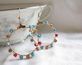 East Meets West Dangle Earrings Free Shipping