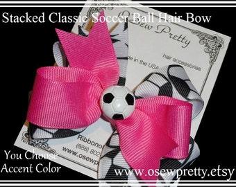 SOCCER Hair bow, Soccer team hair bows, Hair bows for girls,Soccer uniform hair bows,Team sport hair bows,Soccer hair bows,