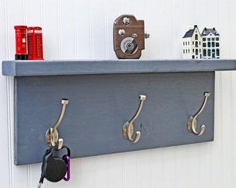 Bedroom Robe Rack, Robe Hanger, Bedroom Storage, Bedroom Shelf, Hoodie Hanger, Grey and Silver Coat Rack, Gray and Silver Coat Rack