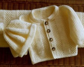 Baby Sweater Matching Hat Set and Blanket! Crochet Pattern PDF 24mo