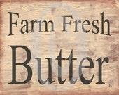 Primitive Printable Download Farm Fresh Butter , Farmhouse Decor , Print and Frame , Digital , jpg , Labels , Pillows , Feedsack , Crates