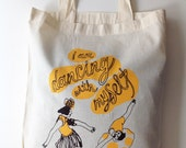 I am dancing with myself - tote bag