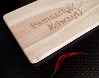 Personalized cheese board, custom laser engraved cutting board, breakfast or cutting board, serving board, wedding, anniversary gift