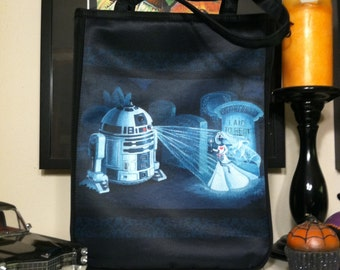 Help Us Master Gracey Tote Bag - Star Wars Haunted Mansion Mash-Up feat. R2-D2 and the Attic Bride