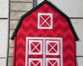 Barn - Iron On or Sew On Appliques - Custom Made Embroidered Patches