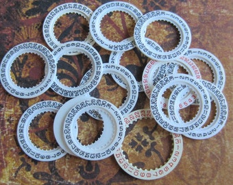Vintage  Watch parts number date rings- Steampunk - Scrapbooking d77