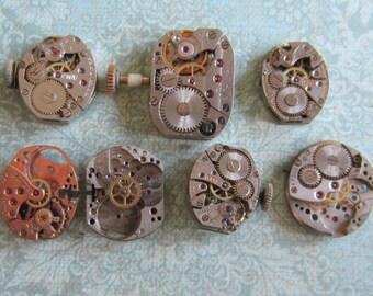 Steampunk watch parts - Vintage Antique Watch movements Steampunk - Scrapbooking s9
