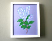 Lilacs, Original Drawing Painting