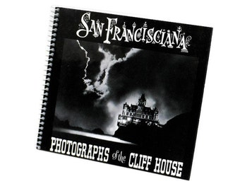 Vintage San Francisco Art Photography Book Cliff House California Memorabilia Black White Spiral History PeachyChicBoutique