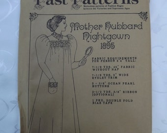Edwardian Mother Hubbard Nightgown 1895  Past Patterns Historic Clothing Pattern  Fig. 214