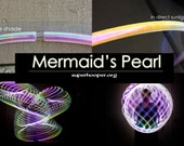 "LED Hoop - 'MERMAID'S PEARL'  - 3/4"" Polypro. Made in any size 28"" - 36""."