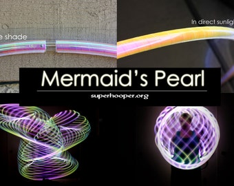 """LED Hoop - 'MERMAID'S PEARL'  - 3/4"""" Polypro. Made in any size 26"""" - 36"""".  Free 3M Inside Grip Option!"""