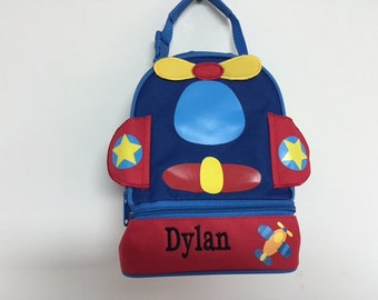 Personalized Stephen Joseph Lunchpals Airplane