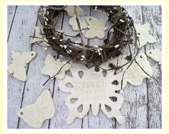 Memorial  Butterfly Wind Chime Personalized