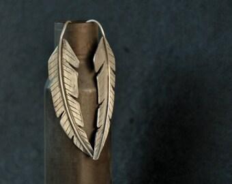 Earrings: Sterling Silver Feather Dangles